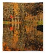 A Reflection Of October Fleece Blanket