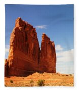 A Rock At Arches Fleece Blanket