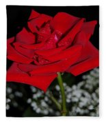 A Rose For Suzanne Fleece Blanket
