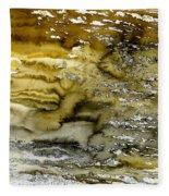 A Sea Of Raw Sienna Fleece Blanket