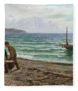 A Sea View Fleece Blanket
