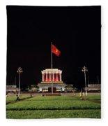A Serene Ho Chi Minh Mausoleum Fleece Blanket