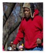 A Skater In Central Park - 2 Fleece Blanket
