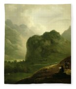 A Sketching Party In The Pass At Borrowdale Fleece Blanket