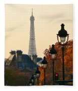 A Slice Of Paris Fleece Blanket