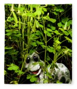 A Smile In A Clover Forest Fleece Blanket