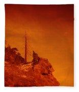 A Snag On A Cliff Fleece Blanket