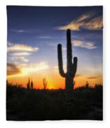 A Sonoran Sunset  Fleece Blanket