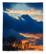 A Spring Sunset Fleece Blanket