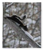 A Squirrel Snow Cone Fleece Blanket