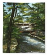 A Summer Walk Along The Creek  Fleece Blanket