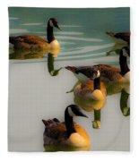 A Swim At Sunset Fleece Blanket