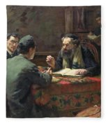 A Theological Debate Fleece Blanket