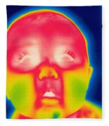 A Thermogram Of A 5 Month Old Baby Fleece Blanket