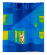 A Thermogram Of A Person Waving In House Fleece Blanket