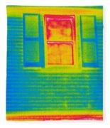 A Thermogram Of A Window Fleece Blanket