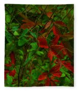 A Touch Of Christmas In Nature Fleece Blanket