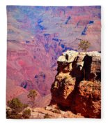 A Tree And The Canyon Fleece Blanket