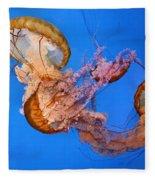 A Trio Of Jellyfish Fleece Blanket