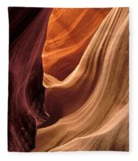 A View In A Slot Canyon Fleece Blanket