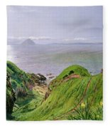 A View Of Ailsa Craig And The Isle Of Arran Fleece Blanket