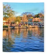 A View Of Disneyland From Tom Sawyer Island  Fleece Blanket