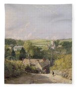 A View Of Osmington Village With The Church And Vicarage Fleece Blanket