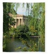 A View Of The Parthenon 1 Fleece Blanket