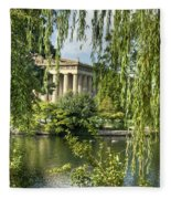 A View Of The Parthenon 10 Fleece Blanket