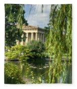 A View Of The Parthenon 16 Fleece Blanket