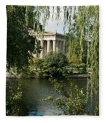 A View Of The Parthenon 6 Fleece Blanket