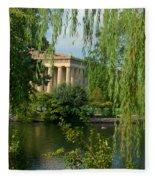 A View Of The Parthenon 8 Fleece Blanket