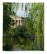 A View Of The Parthenon 9 Fleece Blanket
