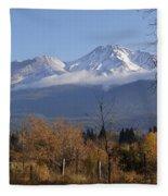 A View Toward Mt Shasta In Autumn Fleece Blanket