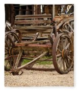 A Wagon And Wheels Fleece Blanket