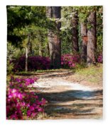 A Walk In The Springtime Woods Fleece Blanket