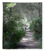 a walk about fairy wood - Mediterranean autumn forest Fleece Blanket