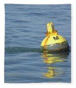 A Water Buoy In The Blue Water Of San Francisco Bay Fleece Blanket