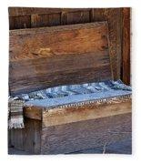 A Weathered Bench Fleece Blanket