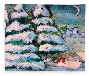 A Winter Feast Fleece Blanket