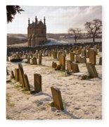 A Winter Graveyard Fleece Blanket