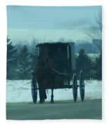 A Winters Day Fleece Blanket