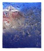 A Wintry Icy Window Fleece Blanket