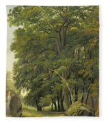 A Wooded Landscape  Fleece Blanket