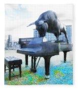 A World Of Art And Music Fleece Blanket
