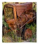 Abandonded Farm Tractor 1 Fleece Blanket