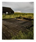 Abandoned Farm House Fleece Blanket