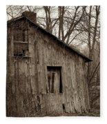 Abandoned Farmstead Facade Fleece Blanket