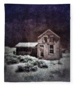 Abandoned House In Infrared Fleece Blanket