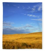 Abandoned House On The Prairies Fleece Blanket